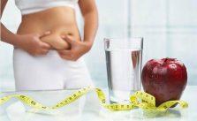 manzana, agua, centímetro, vientre